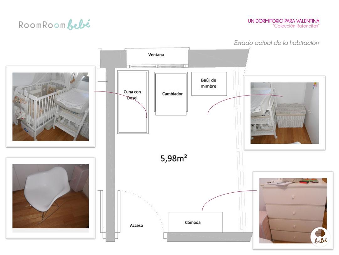 Un dormitorio para valentina room room beb - Dormitorios de nina en blanco ...