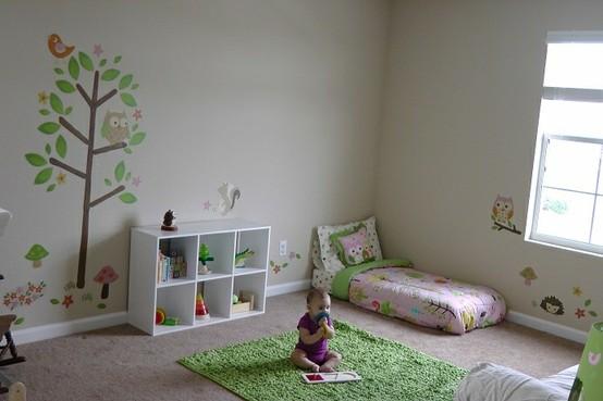 Montessori una habitaci n diferente room room beb - Alfombra suelo bebe ...