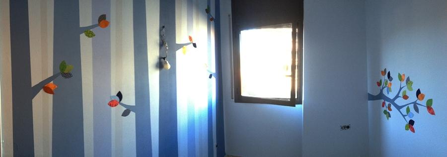Un mural original en la habitaci n de mi beb room room beb for Pegatinas decorativas pared ikea