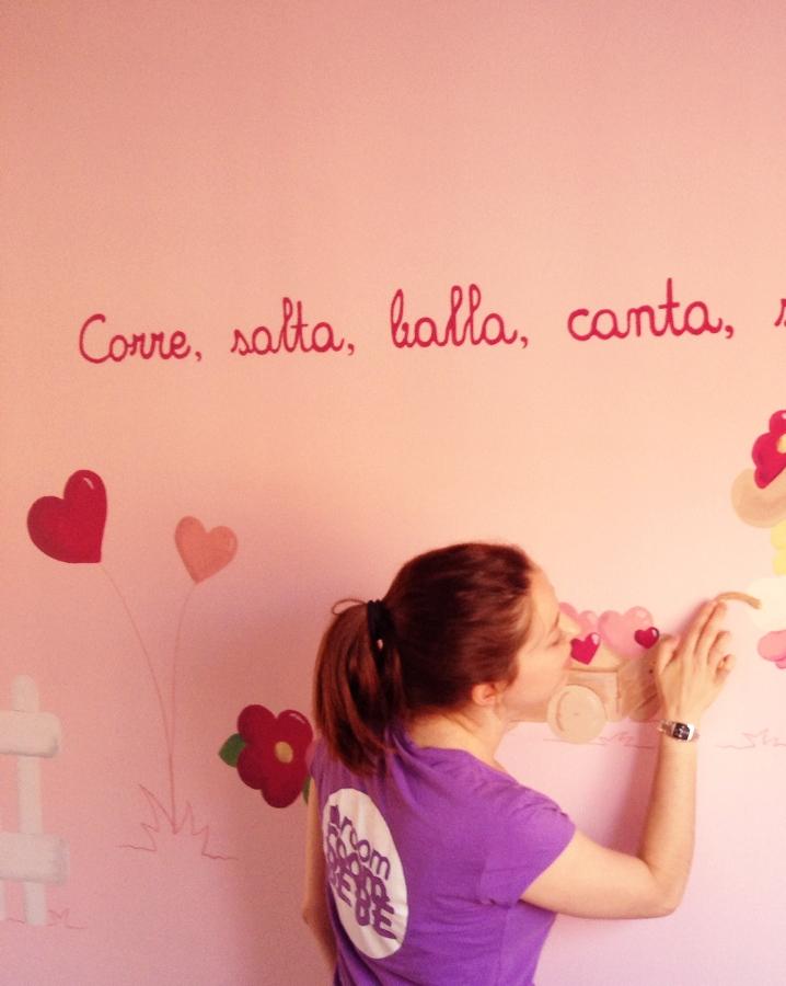 Un mural original en la habitaci n de mi beb room room beb - Dibujos habitacion bebe ...