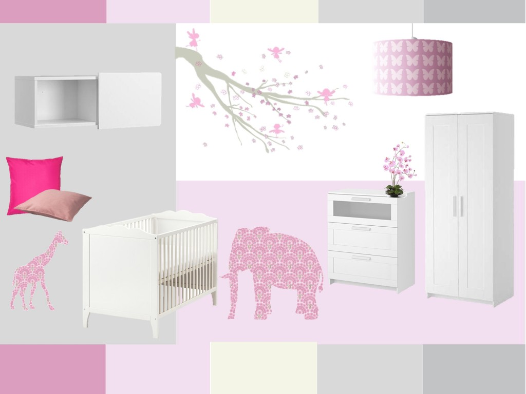 Decorar habitacion bebe nia perfect decoracin de bebe for Decoracion habitacion nina gris y rosa