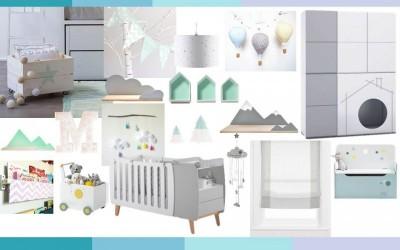 Habitaciones de bebés: las montañas inspiran.